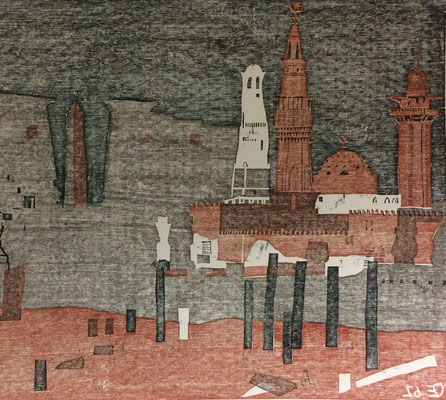 Luxor, Otto Eberhardt, 1962, Holzschnitt, Papier, 73,5x52cm, ID1262