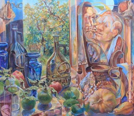 The Birth of the Poem, Vladimir Skripnik, 2015, tempera oil, canvas, 70x80