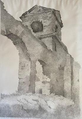 Römische Wasserleitung, Shihab Vaippipadath, undatiert, Zeichnung, Papier, 70x100cm, ID1735