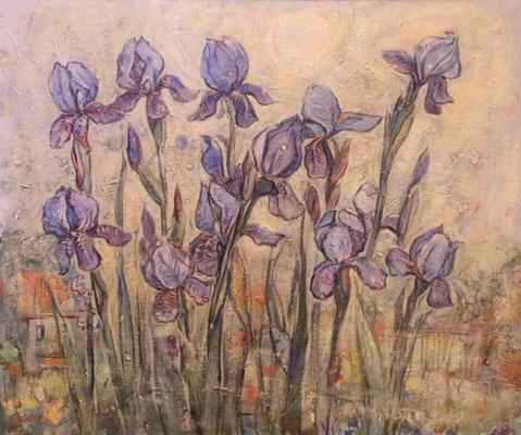 Irises, Alexandr Zlatkin, , Öl, Leinwand, 69x57, ID1115