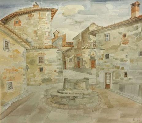 Dorf 1, Otto Eberhardt, 1994, Aquarell, Papier, cm, ID1456