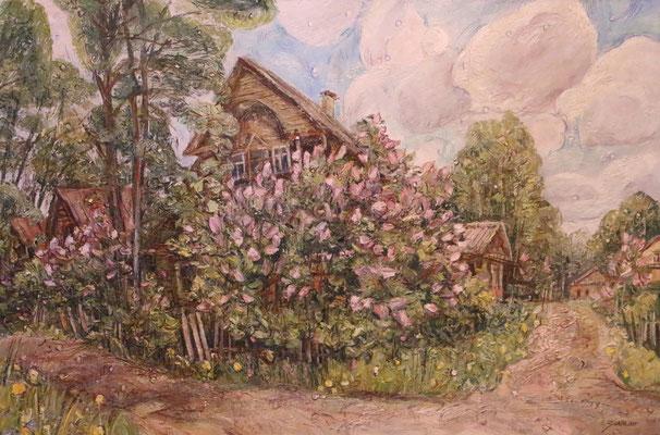 Lilac Street, Alexandr Zlatkin, , Öl, Leinwand, 90x60, ID1118