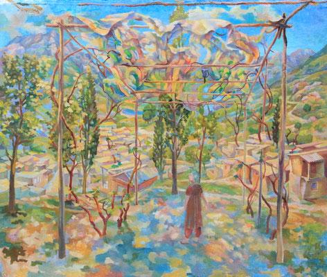 Sunbeams of Asia, Vladimir Skripnik, 2012, oir, canvas on carton, 54x64