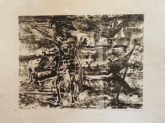 Fishermen II, Shihab Vaippipadath, 2001, , Papier, 56x48cm, ID1731