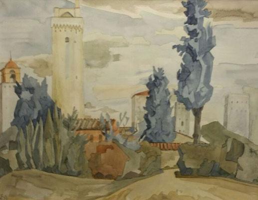 San Gimignano VI, Otto Eberhardt, ?, Aquarell, Papier, cm, ID1458