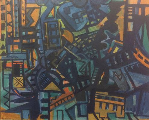 Abstrakt 1, Heinz Bodamer, check, Öl, Leinwand, , ID1286