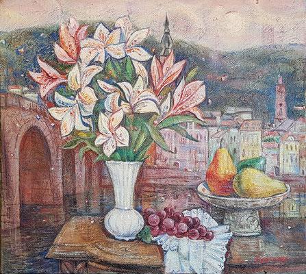 Flowers of Heidelberg, Alexandr Zlatkin, 2018, Öl, Leinwand, 45x50, ID1147