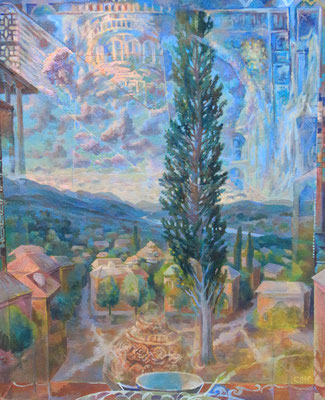 Adaption of an evening, Vladimir Skripnik, 2013, Tempera, carton, 68,5x56,5cm, ID1013