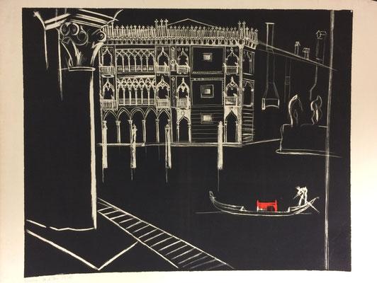 Ca d'Oro, s, Otto Eberhardt, 1956, Lithografie, Papier, 60x48,5cm, ID1243