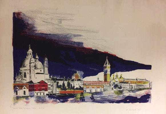 Canale della Giudecca, Otto Eberhardt, 1956, Lithografie, Papier, 62x48cm, ID1242