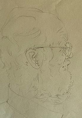Otto Eberhardt, Shihab Vaippipadath, undatiert, Zeichnung, Papier, 24x31cm, ID1737