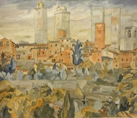San Gimignano I, Otto Eberhardt, ?, Aquarell, Papier, cm, ID1448