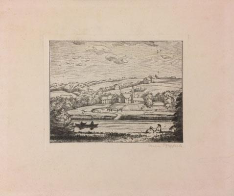 Landschaft, Erwin Pfefferle, undatiert, 19x15cm, ID1374