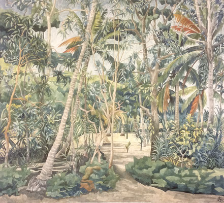 Vaippipadath garden II, Otto Eberhardt, 2005, Aquarell, Papier, 74x66cm, ID1202