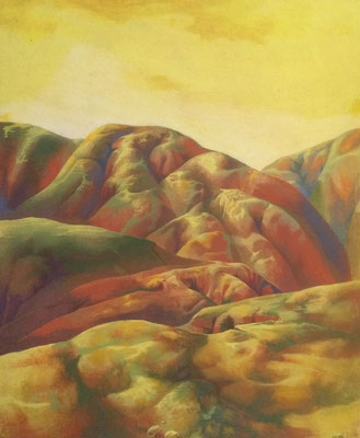 Yellow Landscape, Vladimir Skripnik, 1993, oil, wood-carton, 46x56, ID1140