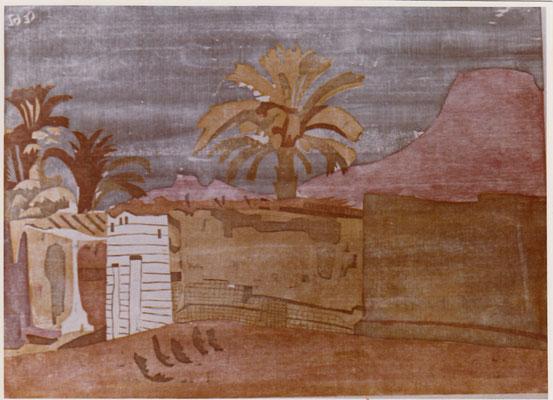 Balanah Unternubien, Otto Eberhardt, 1962, Holzschnitt, Papier, 74x54, ID1175
