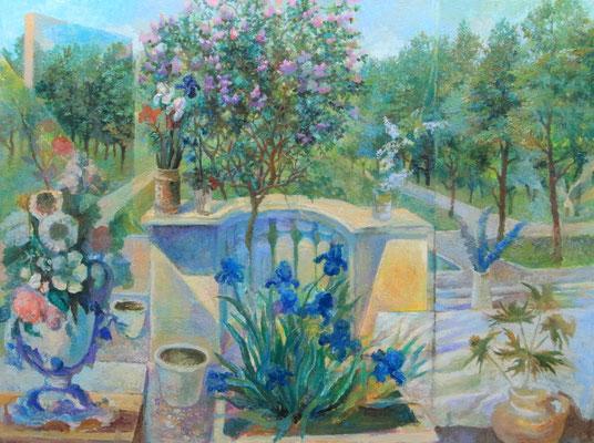 Bouguet for a painter, Vladimir Skripnik, 2017, oil, canvas, 60x80