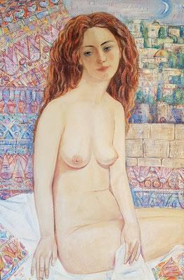 The virgin of Jerusalem, Alexandr Zlatkin, 2018, oil, canvas, 45x50, ID1146