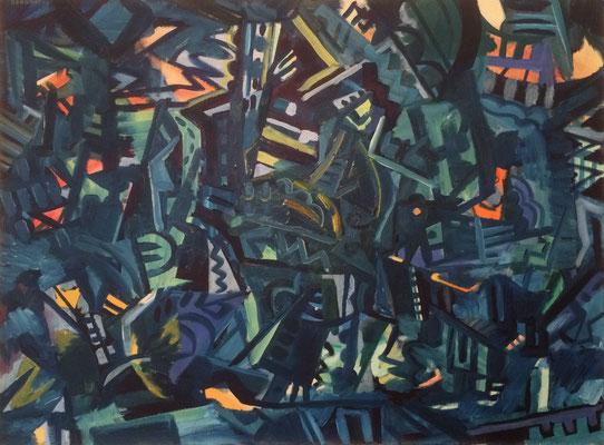 Abstrakt, Heinz Bodamer, 1959, Öl, Leinwand, 102x75, ID1370