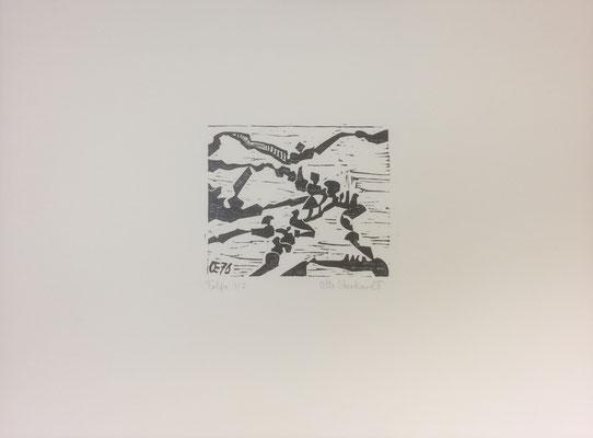 Tolfa, Otto Eberhardt, 1976, Holzschnitt, Papier, 20x16cm, ID1237