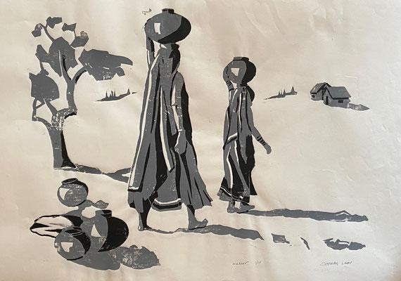 Wasser, Shihab Vaippipadath, 2001, Druck, Papier, 77x53cm, ID1727