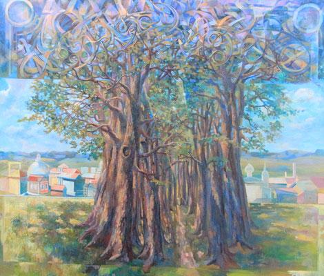 Path in the Tree of Life, Vladimir Skripnik, 2014, tempera oil, canvas, 70x80