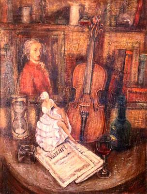 Still life of Mozart, Alexandr Zlatkin, , Öl, Leinwand, 60x80, ID1117