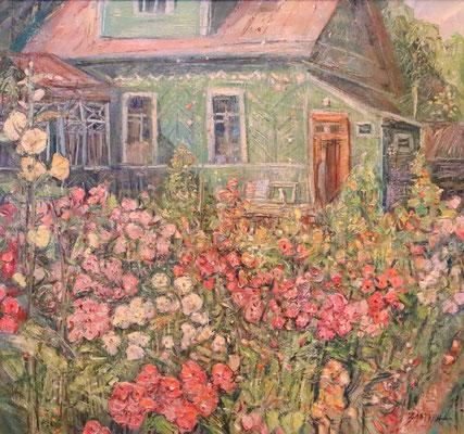 Flowering, Green House, Alexandr Zlatkin, , Öl, Leinwand, 56x60, ID1042