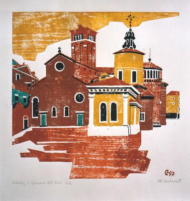 San Giacomo dell Orio, Otto Eberhardt, 1964, Holzschnitt, Papier, 50x50cm, ID1161