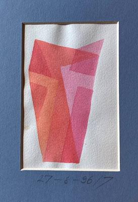27-8-96, Christian Gerblich, 1996, Druck, Papier, 11x14cm, ID1807