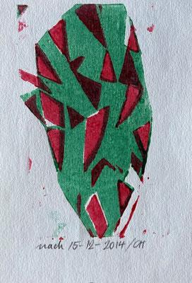 15-12-2014/GH, Christian Gerblich, 2014, Druck, Papier, 11x14cm, ID1809