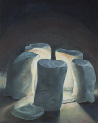 Marshfellows, 100x80cm, Acryl und Öl auf Leinwand