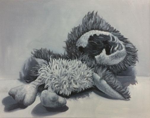 Opfer No.4 , 40 x 50 cm, Eitempera auf Leinwand
