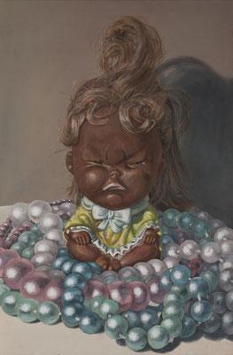 Prinzessin auf der Perle, 120x80cm, Eitempera auf Leinwand