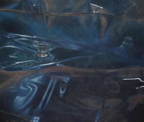 Luftmatratzennippel, 140x120cm, Eitempera auf Leinwand