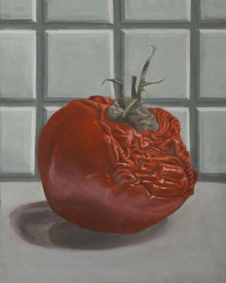 Alte Tomate, 40x50cm, Acryl auf Leinwand