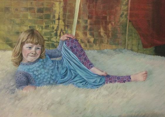 Little Miss Olympia, 50x70cm, Eitempera auf Leinwand