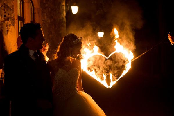 Brennendes Herz, Hochzeitsfeuershow Berlin Brandenburg