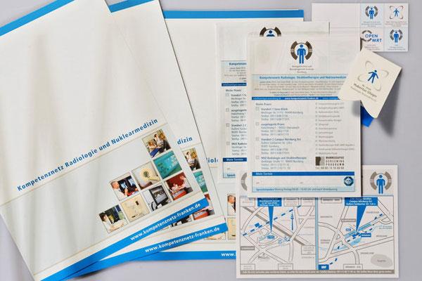 Präsentationsmappe und Unterlagen