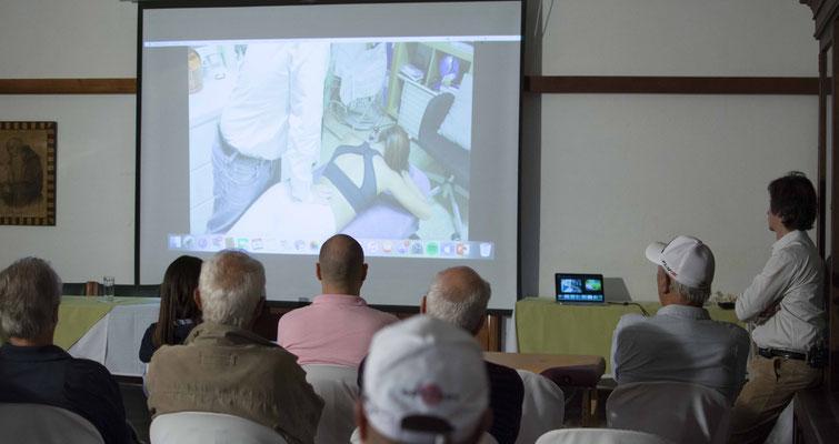 Conferencia sobre la osteopatía aplicada al golf. Colombia.