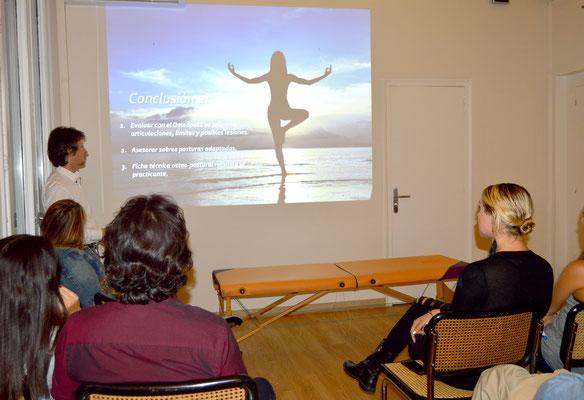 Conferencia sobre yoga y osteopatía. Barcelona.