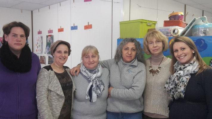 Cathy, Bouchra, Chantal, Milena, Cecylia, Emilie