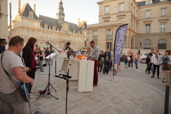 Rockandco fête de la musique chez Laforêt Immobilier Reims centre