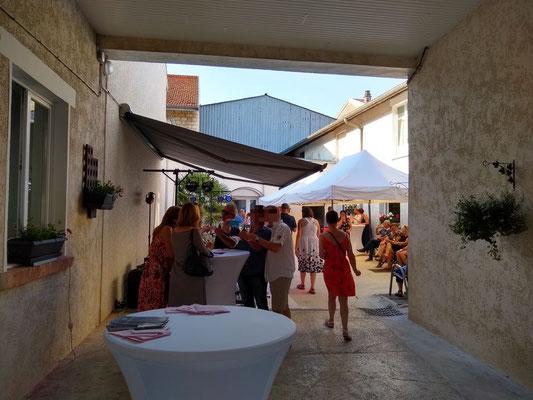 Inauguration chez Champagne Huet-Oudin Nogent L' Abbesse