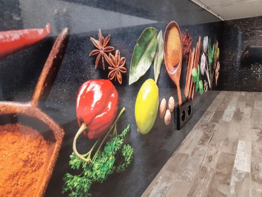 Küchenrückwand Dibond Foto Druck