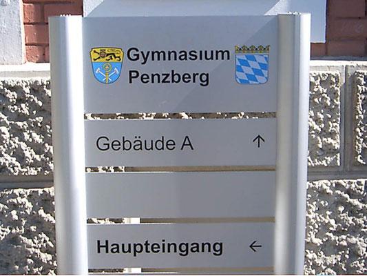 Schildersystem Schild Aluminium Penzberg