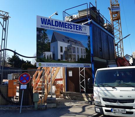 Bautafel Format 4x3m Waldmeisterstraße München