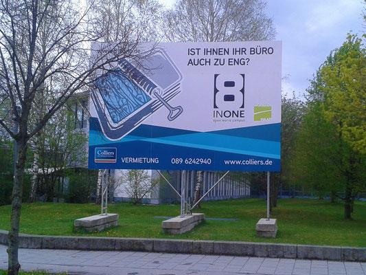 System Bautafel 6x4m mobil Fundamente