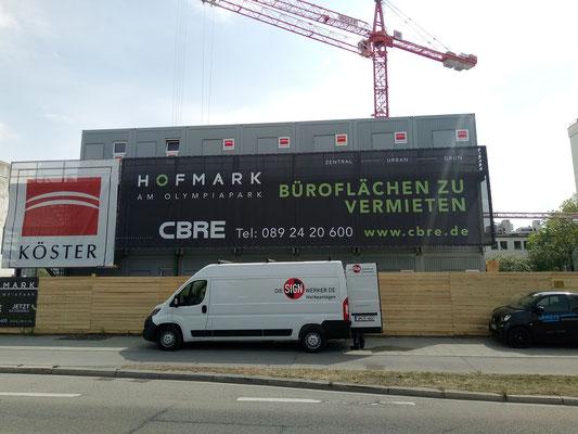 Baucontainer Banner München Moosacherstraße