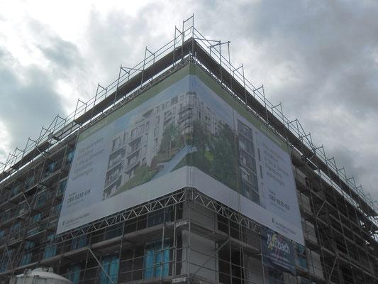 Baugerüst Banner Fassade München Nord